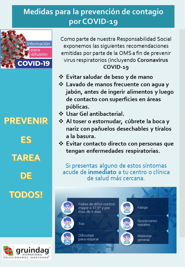 COVID1 prevención